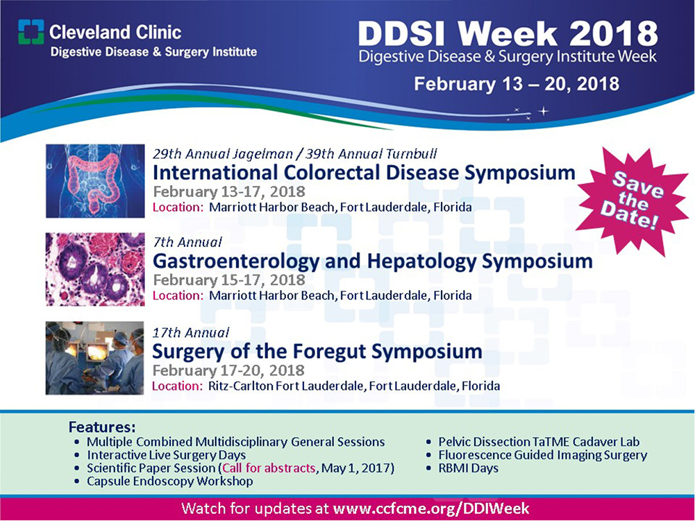 The highlights in the Digestive Disease Institute Week 2017 - Zhong